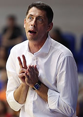 Hungary head coach Stefan Svitek